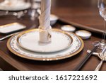elegant table set up in...   Shutterstock . vector #1617221692