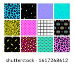 set of seamless patterns in... | Shutterstock .eps vector #1617268612