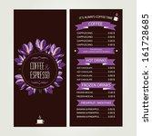 cafe menu  template design.... | Shutterstock .eps vector #161728685