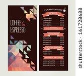 cafe menu  template design.... | Shutterstock .eps vector #161728688