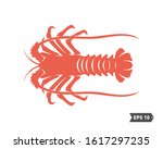 shrimp logo design vector.... | Shutterstock .eps vector #1617297235