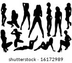 group of posing models vector... | Shutterstock .eps vector #16172989