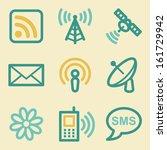 communication web icons  retro... | Shutterstock .eps vector #161729942