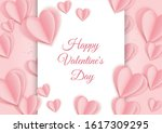 valentines day sale poster with ...   Shutterstock .eps vector #1617309295