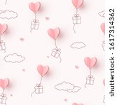 valentines hearts balloons with ... | Shutterstock .eps vector #1617314362