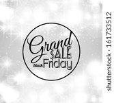 black friday calligraphic... | Shutterstock .eps vector #161733512
