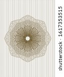 brown rosette or money style... | Shutterstock .eps vector #1617353515