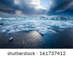 flatland near jokulsarlon ... | Shutterstock . vector #161737412
