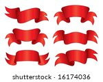 red banners  vector . in the... | Shutterstock .eps vector #16174036