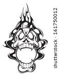flame skull | Shutterstock .eps vector #161750012