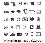 communication icons. set of... | Shutterstock .eps vector #1617521092