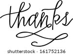 thanks | Shutterstock .eps vector #161752136