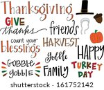 thanksgiving set | Shutterstock .eps vector #161752142