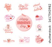valentines day icon set with... | Shutterstock .eps vector #1617543982