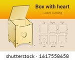 cnc. laser cutting box with... | Shutterstock .eps vector #1617558658