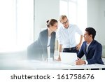 portrait of smart business... | Shutterstock . vector #161758676