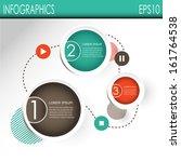 infografic designs  vector | Shutterstock .eps vector #161764538