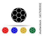 soccer ball multi color style...
