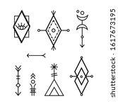hipster sacred geometric shapes ...   Shutterstock .eps vector #1617673195