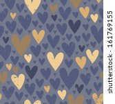 seamless pattern with hearts | Shutterstock .eps vector #161769155