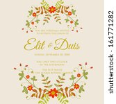 wedding invitation or card with ... | Shutterstock .eps vector #161771282