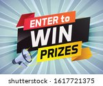 enter to win prize word concept ...