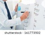 close up of a male teacher... | Shutterstock . vector #161773502