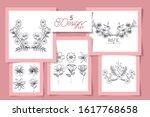 five design of flowers rustic...   Shutterstock .eps vector #1617768658