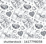 seamless pattern with hand... | Shutterstock .eps vector #1617798058