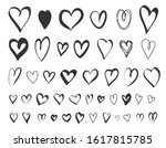 Hand Drawn Hearts Vector...