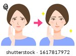 woman spots before and after... | Shutterstock .eps vector #1617817972