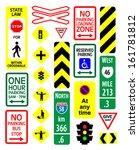 traffic signs vector... | Shutterstock .eps vector #161781812