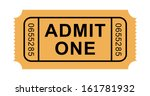vector admission ticket  | Shutterstock .eps vector #161781932