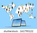 conceptual social networking... | Shutterstock .eps vector #161790122
