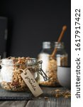 Muesli In A Glass Jar On The...