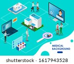 isometric concept of medical... | Shutterstock .eps vector #1617943528