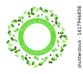 microgreens daikon radish. seed ... | Shutterstock .eps vector #1617946858