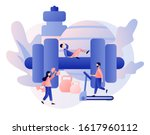 fitness blog and workout app... | Shutterstock .eps vector #1617960112