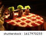 Delicious Romantic Red Cake...