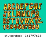 font sketch hand drawing vector