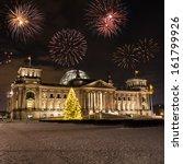 fireworks and german parliament | Shutterstock . vector #161799926