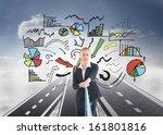 composite image of blonde... | Shutterstock . vector #161801816