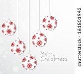 merry christmas celebration... | Shutterstock .eps vector #161801942