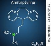 amitriptyline c20h23n  molecule.... | Shutterstock .eps vector #1618070482
