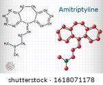 amitriptyline c20h23n  molecule.... | Shutterstock .eps vector #1618071178