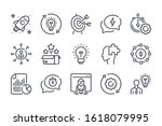 startup related line icon set....