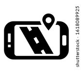 navigation app icon isolated...