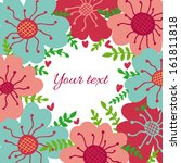 cute floral banner with place... | Shutterstock .eps vector #161811818