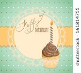 vector illustration birthday ... | Shutterstock .eps vector #161814755