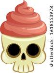 funny skull on a white... | Shutterstock .eps vector #1618153978